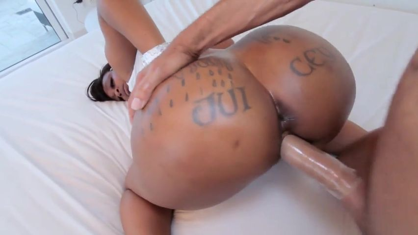 Big Ebony Booty Riding Dildo